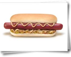 Хот-дог с говяжьей сосиской