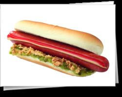 Хот-дог с сосиской чили